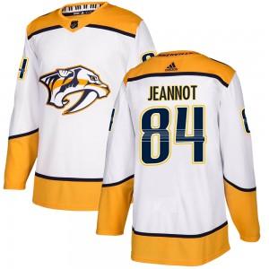 Tanner Jeannot Nashville Predators Men's Adidas Authentic White Away Jersey