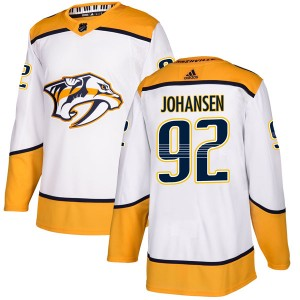 Ryan Johansen Nashville Predators Men's Adidas Authentic White Away Jersey