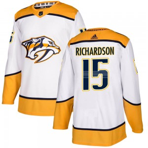 Brad Richardson Nashville Predators Men's Adidas Authentic White Away Jersey