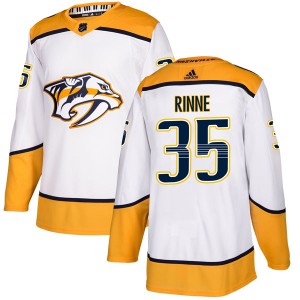 Pekka Rinne Nashville Predators Men's Adidas Authentic White Away Jersey
