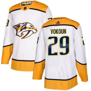 Tomas Vokoun Nashville Predators Men's Adidas Authentic White Away Jersey
