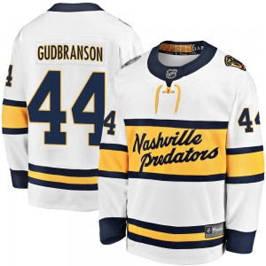 Erik Gudbranson Nashville Predators Men's Fanatics Branded White 2020 Winter Classic Breakaway Player Jersey