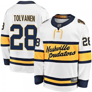 Eeli Tolvanen Nashville Predators Men's Fanatics Branded White 2020 Winter Classic Breakaway Jersey