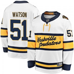 Austin Watson Nashville Predators Men's Fanatics Branded White 2020 Winter Classic Breakaway Jersey