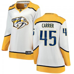 Alexandre Carrier Nashville Predators Women's Fanatics Branded White ized Breakaway Away Jersey