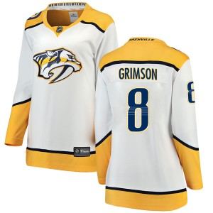 Stu Grimson Nashville Predators Women's Fanatics Branded White Breakaway Away Jersey