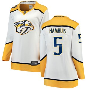 Dan Hamhuis Nashville Predators Women's Fanatics Branded White Breakaway Away Jersey