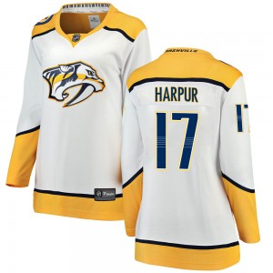 Ben Harpur Nashville Predators Women's Fanatics Branded White Breakaway Away Jersey