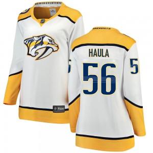 Erik Haula Nashville Predators Women's Fanatics Branded White Breakaway Away Jersey