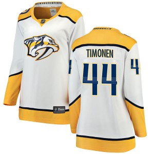 Kimmo Timonen Nashville Predators Women's Fanatics Branded White Breakaway Away Jersey
