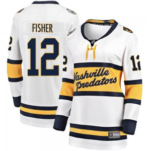 Mike Fisher Nashville Predators Women's Fanatics Branded White 2020 Winter Classic Breakaway Jersey