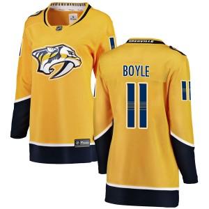 Brian Boyle Nashville Predators Women's Fanatics Branded Yellow Breakaway Home Jersey