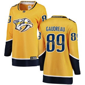 Frederick Gaudreau Nashville Predators Women's Fanatics Branded Yellow Breakaway Home Jersey