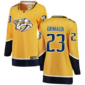 Rocco Grimaldi Nashville Predators Women's Fanatics Branded Yellow Breakaway Home Jersey