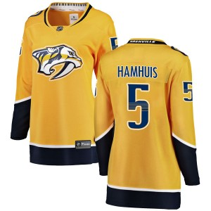Dan Hamhuis Nashville Predators Women's Fanatics Branded Yellow Breakaway Home Jersey