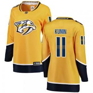 Luke Kunin Nashville Predators Women's Fanatics Branded Yellow Breakaway Home Jersey