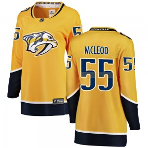 Cody Mcleod Nashville Predators Women's Fanatics Branded Yellow Cody McLeod Breakaway Home Jersey