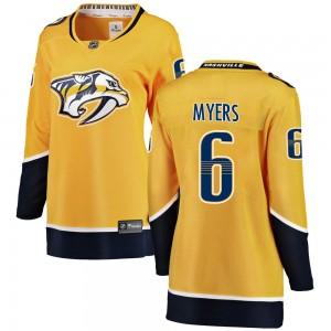 Philippe Myers Nashville Predators Women's Fanatics Branded Yellow Breakaway Home Jersey