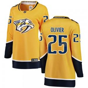 Mathieu Olivier Nashville Predators Women's Fanatics Branded Yellow Breakaway Home Jersey