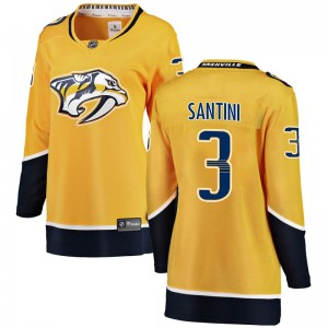 Steven Santini Nashville Predators Women's Fanatics Branded Yellow Breakaway Home Jersey