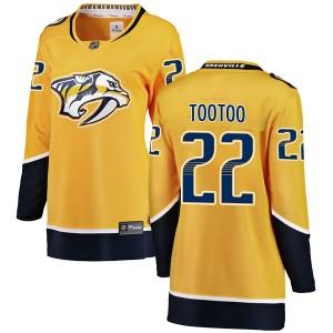 Jordin Tootoo Nashville Predators Women's Fanatics Branded Yellow Breakaway Home Jersey