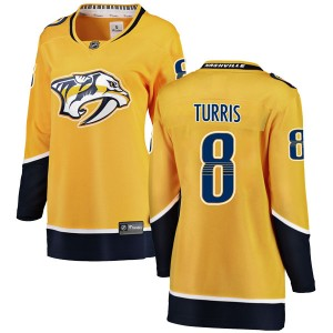 Kyle Turris Nashville Predators Women's Fanatics Branded Yellow Breakaway Home Jersey