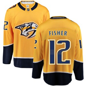 Mike Fisher Nashville Predators Men's Fanatics Branded Yellow Home Breakaway Jersey