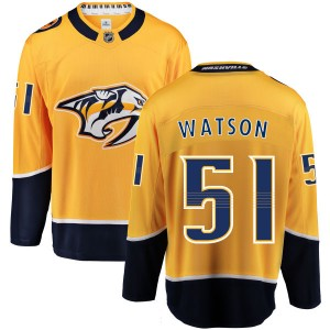 Austin Watson Nashville Predators Youth Fanatics Branded Yellow Home Breakaway Jersey