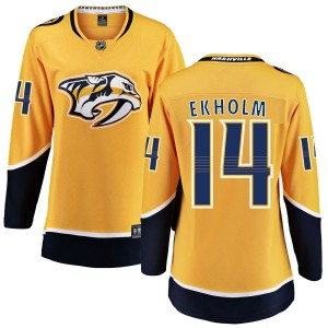 Mattias Ekholm Nashville Predators Women's Fanatics Branded Yellow Home Breakaway Jersey