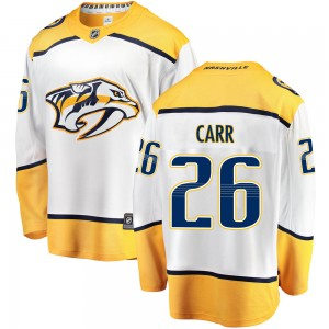Daniel Carr Nashville Predators Youth Fanatics Branded White ized Breakaway Away Jersey