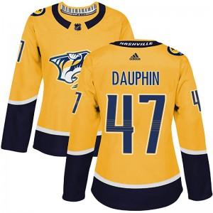 Laurent Dauphin Nashville Predators Women's Adidas Authentic Gold Home Jersey