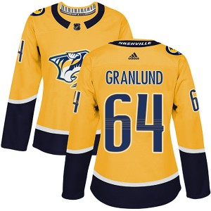 Mikael Granlund Nashville Predators Women's Adidas Authentic Gold Home Jersey