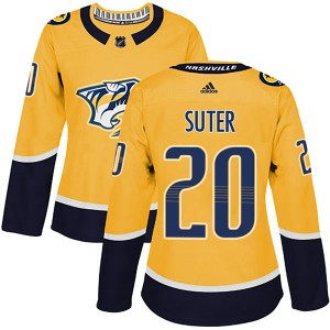 Ryan Suter Nashville Predators Women's Adidas Authentic Gold Home Jersey