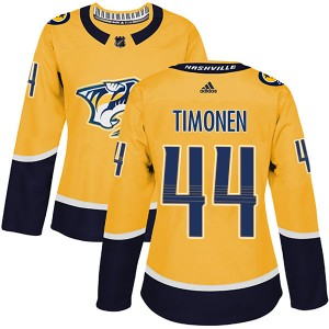 Kimmo Timonen Nashville Predators Women's Adidas Authentic Gold Home Jersey