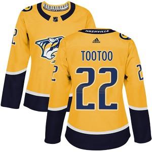 Jordin Tootoo Nashville Predators Women's Adidas Authentic Gold Home Jersey