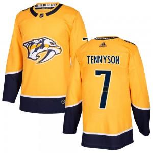Matt Tennyson Nashville Predators Youth Adidas Authentic Gold Home Jersey
