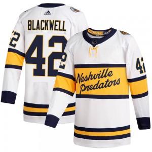 Colin Blackwell Nashville Predators Men's Adidas Authentic White 2020 Winter Classic Jersey