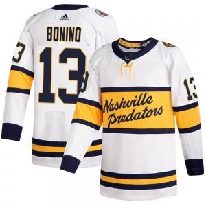 Nick Bonino Nashville Predators Men's Adidas Authentic White 2020 Winter Classic Jersey