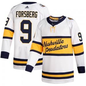 Filip Forsberg Nashville Predators Men's Adidas Authentic White 2020 Winter Classic Jersey