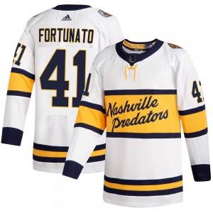 Brandon Fortunato Nashville Predators Men's Adidas Authentic White 2020 Winter Classic Player Jersey