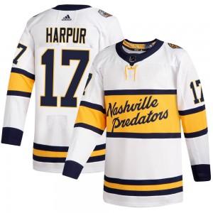 Ben Harpur Nashville Predators Men's Adidas Authentic White 2020 Winter Classic Player Jersey