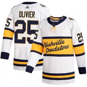 Mathieu Olivier Nashville Predators Men's Adidas Authentic White 2020 Winter Classic Player Jersey