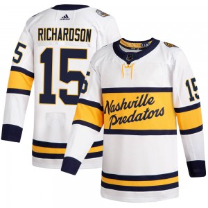 Brad Richardson Nashville Predators Men's Adidas Authentic White 2020 Winter Classic Player Jersey