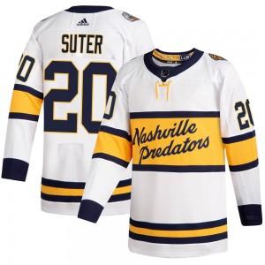 Ryan Suter Nashville Predators Men's Adidas Authentic White 2020 Winter Classic Jersey