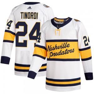 Jarred Tinordi Nashville Predators Men's Adidas Authentic White 2020 Winter Classic Jersey