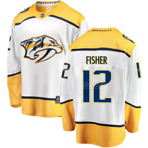 Mike Fisher Nashville Predators Men's Fanatics Branded White Breakaway Away Jersey