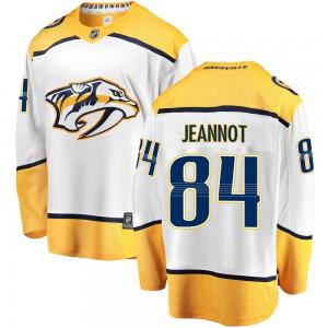 Tanner Jeannot Nashville Predators Men's Fanatics Branded White Breakaway Away Jersey