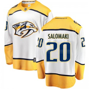 Miikka Salomaki Nashville Predators Men's Fanatics Branded White Breakaway Away Jersey