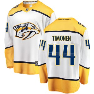 Kimmo Timonen Nashville Predators Men's Fanatics Branded White Breakaway Away Jersey