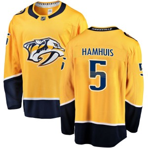 Dan Hamhuis Nashville Predators Men's Fanatics Branded Gold Breakaway Home Jersey